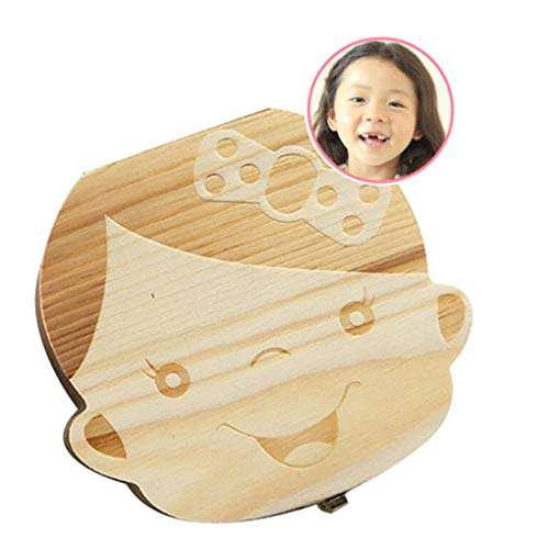 Baby Tooth Box First Curl Box First Haircut Keepsake Tooth Fairy Wooden Box Personalized Tooth Holder (Girl) (Find A Savings Bond In My Name)