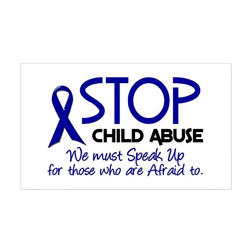 CafePress - Stop Child Abuse 2 Rectangle Sticker - Rectangle Bumper Sticker Car (Child Abuse Car)
