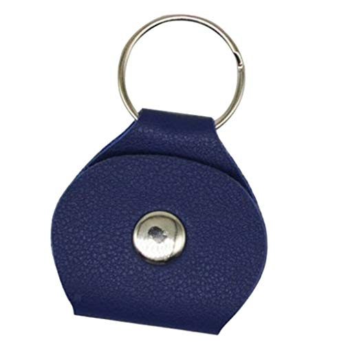- NATFUR Guitar Pick Holder Case PU Leather Keychain Elegant for Gift Beautiful Fine Beauteous Goodly | Color - Blue