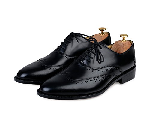 Lethato Wingtip Oxford Goodyear Welted Formal Handmade Leather Dress Shoes by Lethato