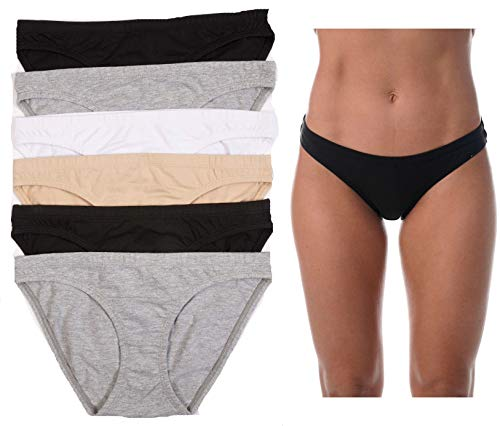 Just Intimates Comfort Bikini Panty (Pack of 6) 6P-33056-M