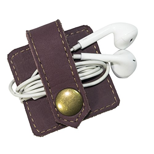 Durable Leather Headphone Wrap With Snap Handmade By Hide & Drink :: - Outfitters Order Urban My
