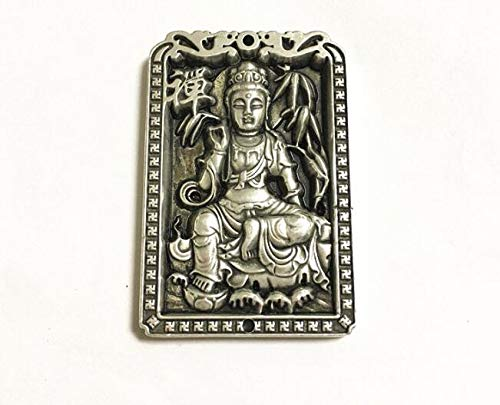 (Office Decoration Tibet Silver Buddha Statue - Collect Chinese White Copper Sculpture Buddha Statue Handicraft Articles Thousand Hand Guanyin Sculpture Silver Medal - by GTIN - 1 Pcs)