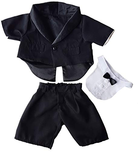 "Tuxedo outfit Teddy Bear Clothes Fits Most 14"" - 18"" Build-A-Bear and Make Your Own Stuffed Animals  from Stuffems Toy Shop"