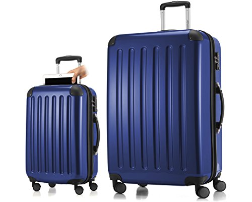 HAUPTSTADTKOFFER Alex plus Luggages Set Hardside Spinner Trolley Expandable (20'28') 2 Pcs Dark Blue by Hauptstadtkoffer