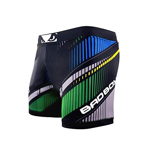 Bad Boy Brasil Polyester Competition MMA Mixed Martial Arts Vale Tudo Shorts (Medium) Black