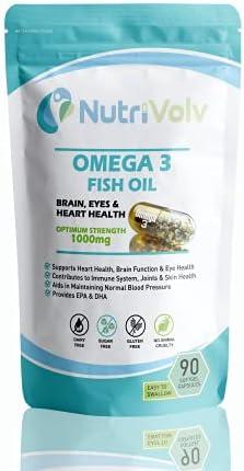 Omega 3 Visolie90 Softgel CapsulesVetzurenHartHersenenOogGezondheidEPADHA