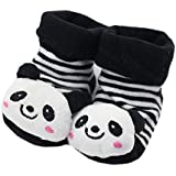 Fairy Season Adorable Unisex Cartoon Panda Newborn Baby Non-slip Socks Slipper Shoes
