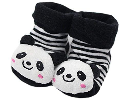 Itaar Newborn Baby Non-slip Socks Slipper Shoes Adorable Unisex Cartoon Panda