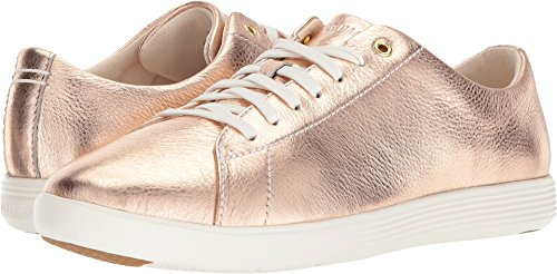 Cole Haan Womens Grand Crosscourt II Rose Gold Foil Metallic Leather/Optic White 8.5 B - Medium