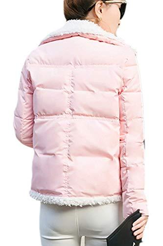 Basic Outdoor Termica Prendas Transición Ropa Fashion Exteriores Mujer Pink Cómodo Invierno Manga Espesar Outerwear Áspera Abrigos Elegantes Casuales Abrigo Largo Cortos Hx OP4xwq8pp