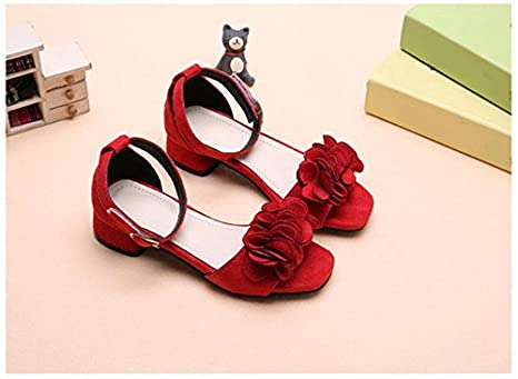 Veribuy Kids Sandals Cute Beach Shoes Summer Flower Sandals Outside Shoes For Girls