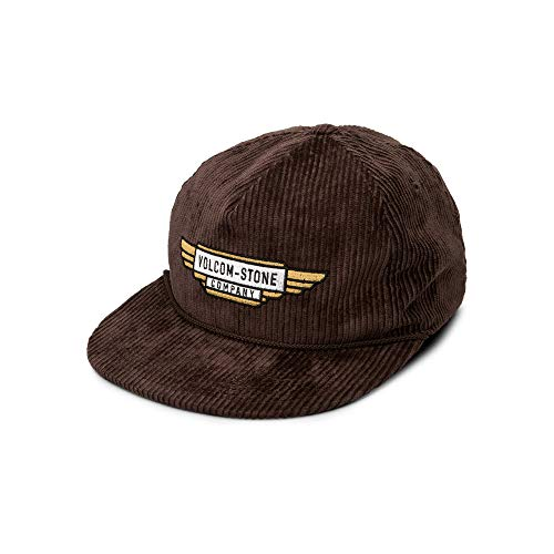 Volcom Men's Stone Cruiser Five Panel Hat, Espresso, One Size Fits All (5 Panel Skateboard Hats)