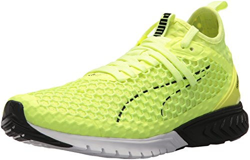 PUMA Men's Ignite Dual Netfit Cross Trainer, Fizzy Yellow Black, 8 M US