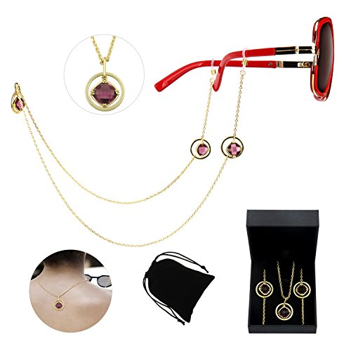 Fashion Glasses Chain Circle Pendant Sunglass Strap Eyeglass Gold Chain Holder for Women Eye Circle Pendant