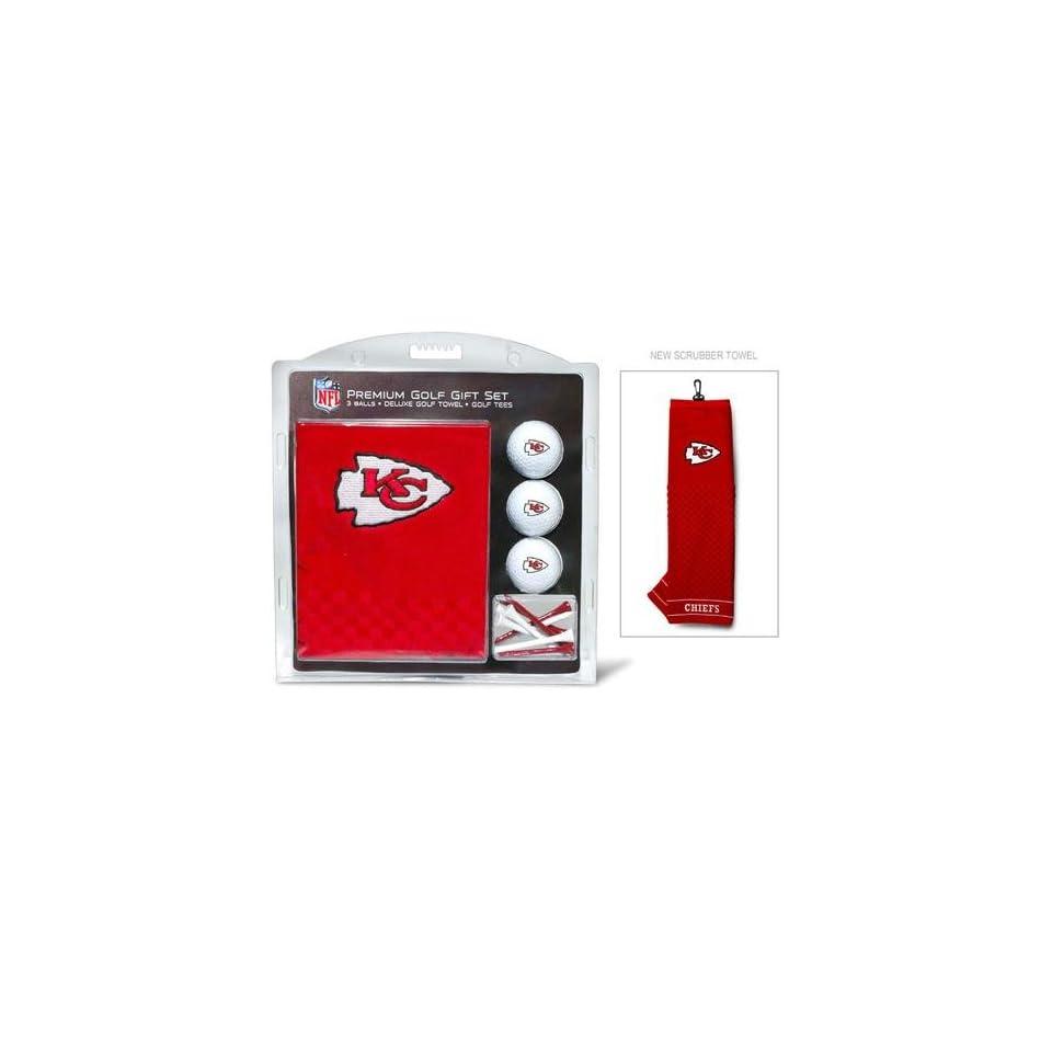 Team Golf Kansas City Chiefs NFL Embroidered Towel/3 Ball/12 Tee Set TGO 31420