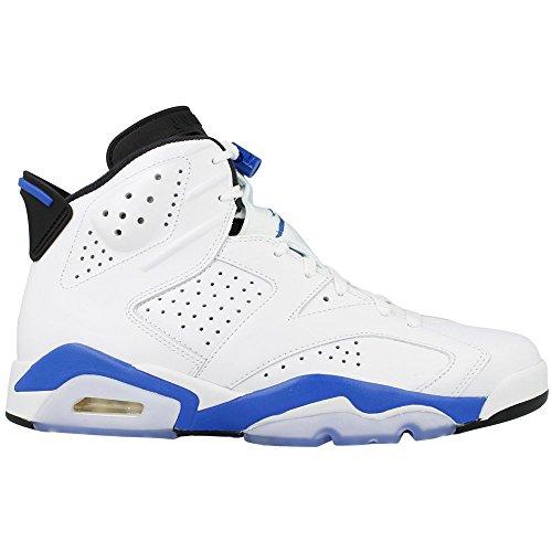 NIKE Mens Air Jordan 6 Retro Sport Blue-White Fabric Trainer Shoes 11 UK l1xaOU2W2z