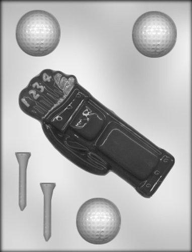 Golf Ball Candy Mold - CK Products Golf Bag, Golf Ball, Golf Tee Chocolate Mold