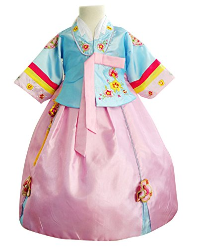CRB Fashion Girls Toddler Korean Top Hanbok Outfit Dress Costume (3 to 4 Years Old, Style #10) -