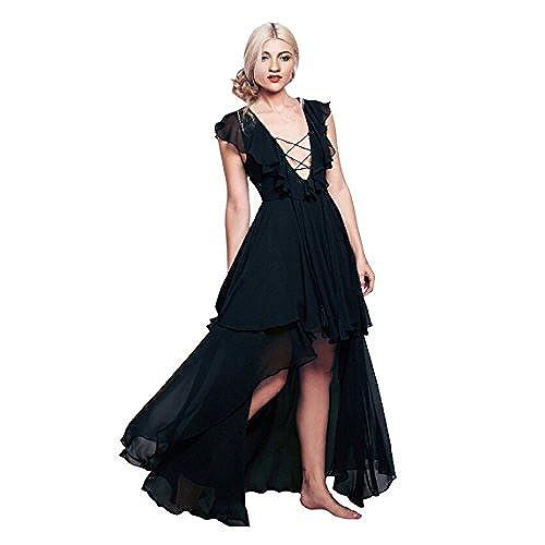 Black High Low Prom Dress: Amazon.com