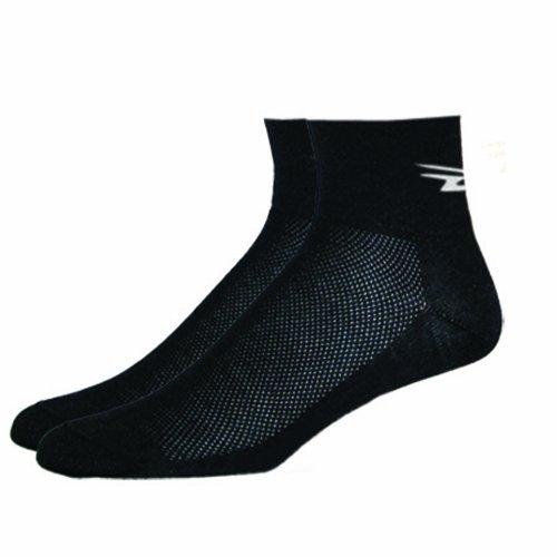 DEFEET Men's AirEator D-Logo Sock, Black, Large