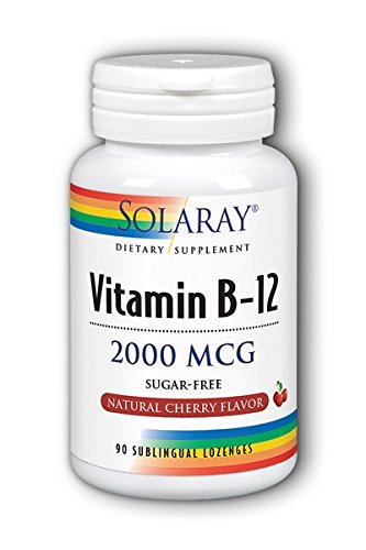 - Solaray, Vitamin B 12 2000mcg, 90 Tablets