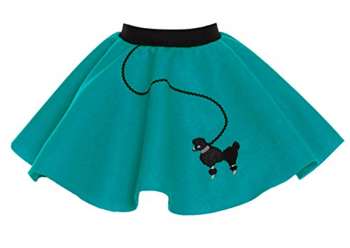 Hip Hop 50s Shop Baby and Toddler Poodle Skirt (Teal, Toddler) for $<!--$16.42-->