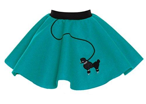 [Hip Hop 50s Shop Toddler Poodle Skirt Teal] (Unique Toddler Girl Halloween Costumes)
