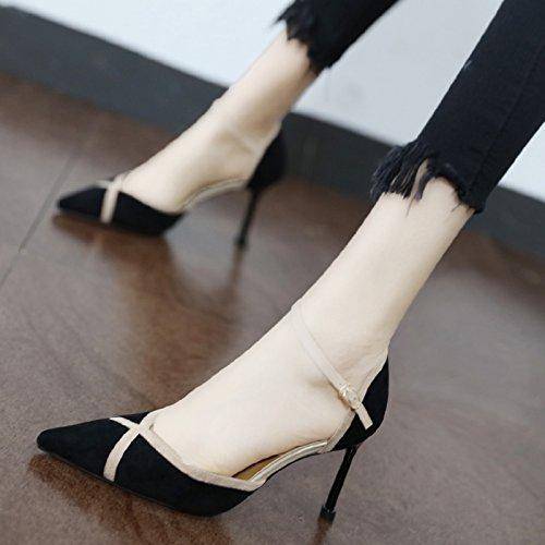 buchstabiere ist single Professionelle Frauen Pumps spitze Schuhe mit Schuhe Farbe Absätzen Seite flache tide Xue Persönlichkeit hohen eine Qiqi Schuhe xAYZtZ