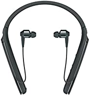 Sony Premium Noise Cancelling Wireless Behind-Neck in Ear Headphones - Black (WI1000X/B)
