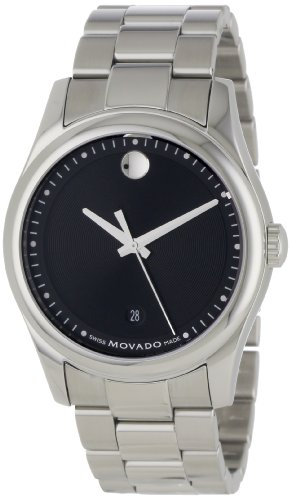 Movado Men s 0606481 Movado Sportivo Stainless-Steel Black Museum Dial Bracelet Watch