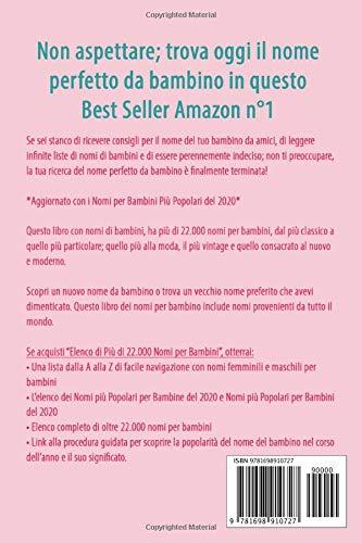 Libro Della Gravidanza 22 000 Nomi Per Bambini Nomi Femminili Per Bambini Nomi Maschili Per Bambini E Nomi Per Bambini Piu Popolari Del 2020 Amazon It King Amelia Libri