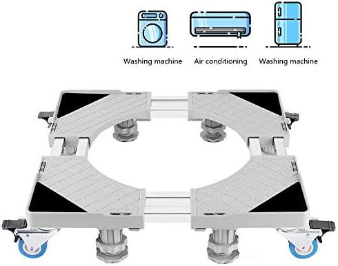 GNEGNI Base Lavadora, Base Ajustable móvil Multifuncional con 4 ...