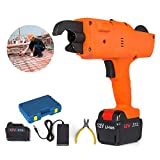 Mophorn Rebar Tying Machine 6-25mm Automatic Steel Bar Rod Tying Tools 13200mah Lightweight Handheld Tier Binding 12V Rechargeable Electric Tools (6-25mm/13200mah)