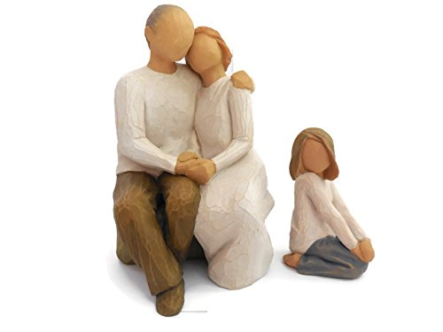 Sexy Couples Ideas (Willow Tree Anniversary Figurine Bundle with Joyful Child Statue, Best Anniversary Gifts Ideas for A Couple, Her,Wife,Parents,Women)