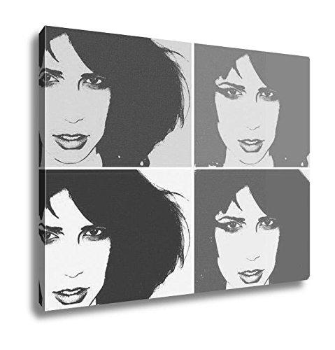 Ashley Canvas Pop Art Portrait, Kitchen Bedroom Living Room Art, Black/White 24x30, AG5815465