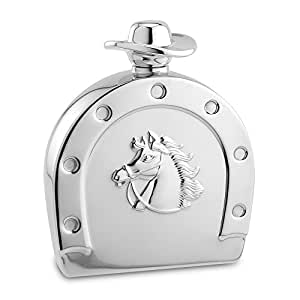 Epic Products 4.75-Inch Horseshoe and Cowboy Hat Flask, 6-Ounce