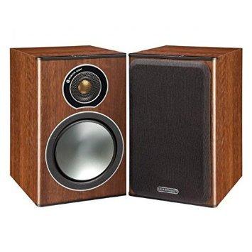 Price comparison product image Monitor Audio Bronze Series 1 2 Way Bookshelf Speakers - Walnut