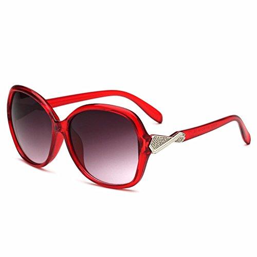 lentes Gafas redondos de sol gran mujer espejo UV400 Opcional de de RDJM d para e de marco rana tendencia multicolor qXEx0Ydnw