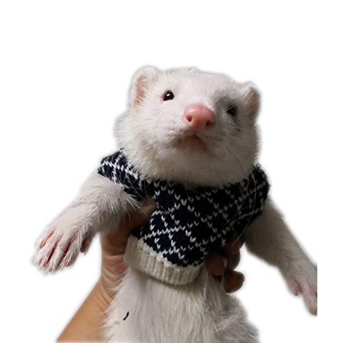 FULUE Ferret Vest Clothing,Ferret Accessories Kit Outfit (Black)]()