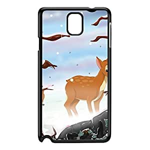 Deer in the Snow Black Hard Plastic Case for Galaxy Note 3 by Nick Greenaway + FREE Crystal Clear Screen Protector