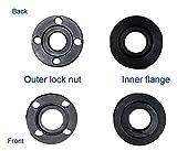 Ketofa Angle Grinder Flange Nut for Dewalt Ryobi Milwaukee Makita Black & Decker Metal Inner Outer Flange Nut 224399-1 193465-4 224568-4 Parts (2 Set)