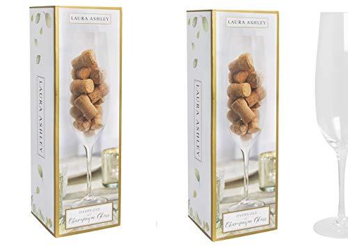 Laura Ashley Champagne Glass Jumbo(pack of 2)