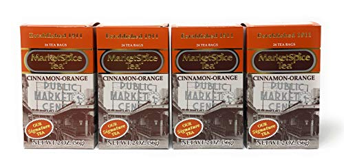 MarketSpice Cinnamon-Orange Tea Bag, 24 count (Pack of 4) Market Spice Teabag