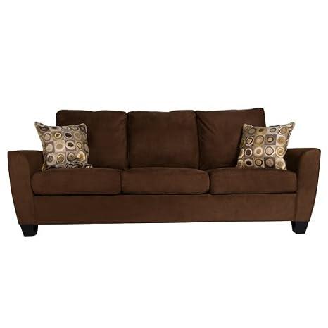 Enjoyable Amazon Com Handy Living Devon Microfiber Sofa Dark Brown Unemploymentrelief Wooden Chair Designs For Living Room Unemploymentrelieforg