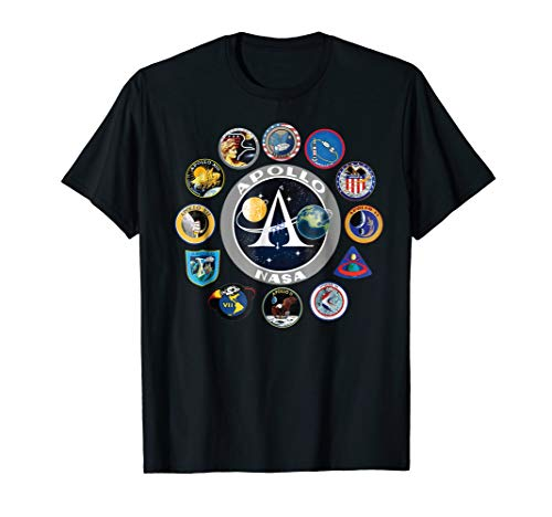 Apollo Missions Patch Badge T-Shirt NASA Shirt Program