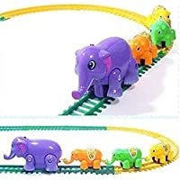 AKSHATA Funny Elephant Train Track Toy Gift for Kids (Multi Color)