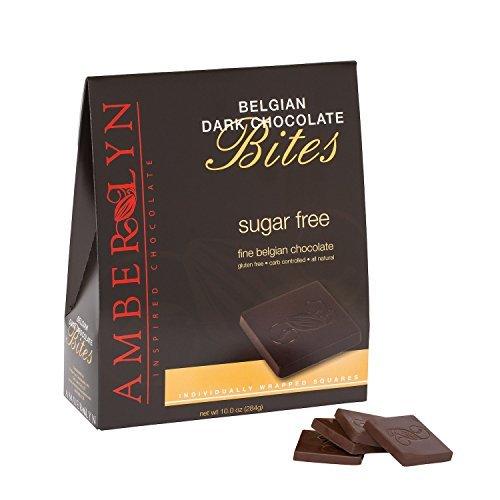 - Amber Lyn Dark Chocolate Tasting Bites - Sugar Free (10oz bag) by Amber Lyn Chocolate