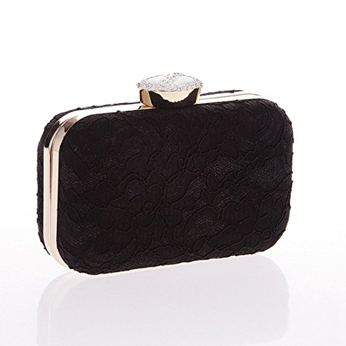 Lace Fashion Clutch Handbag Handbag KERVINFENDRIYUN Bag Color White Fashion Party Black Purse Evening Bag 4qppHgdw