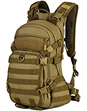 Selighting Taktisk militärryggsäck 25 L cykelryggsäck med hjälmskydd vattentät MOLLE överfallspaket för vandring resor vandring